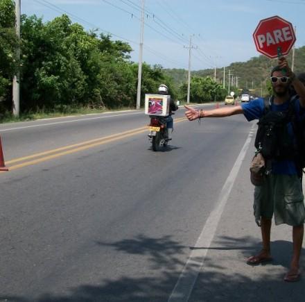 Haciendo Dedo en Colombia.