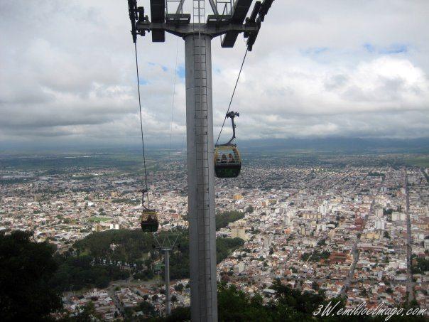 Telesferico de Salta. Foto Emilio Carrasco.